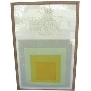 1973 Josef Albers Galerie Melki Poster
