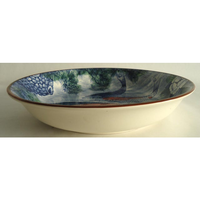 Japanese Serving Bowl with Koi Fish - Image 7 of 7