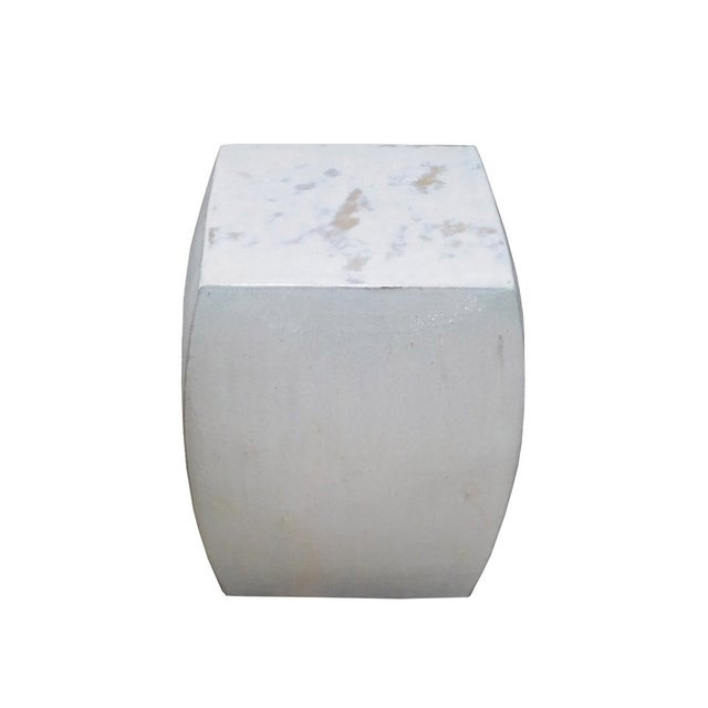 Off White Square Chinese Ceramic Garden Stool - Image 2 of 5
