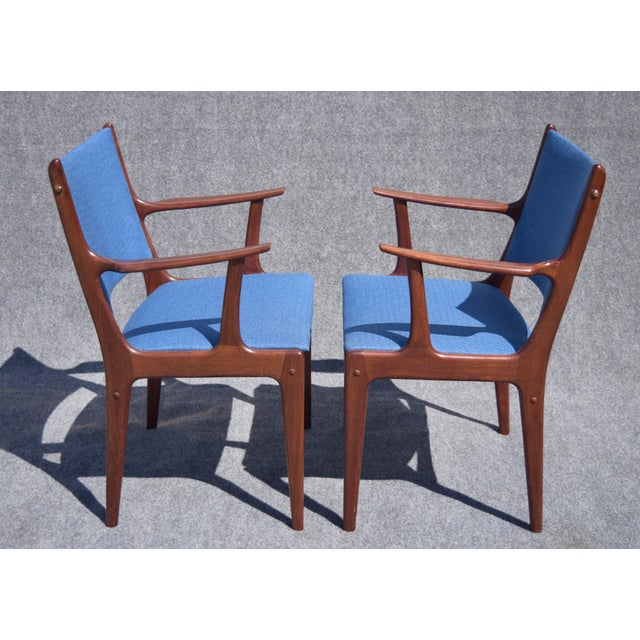 Johannes Andersen Danish Modern Rosewood Dining Chairs - Set of 6 - Image 4 of 9