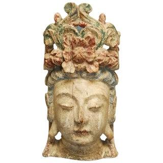 Buddhist Carved Guan Yin Bodhisattva Head