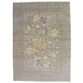 Floral Art Nouveau Style Area Rug - 10′ × 13′11″