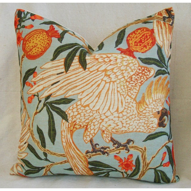 Parrot & Pomegranate Linen Feather/Down Pillow - Image 2 of 3