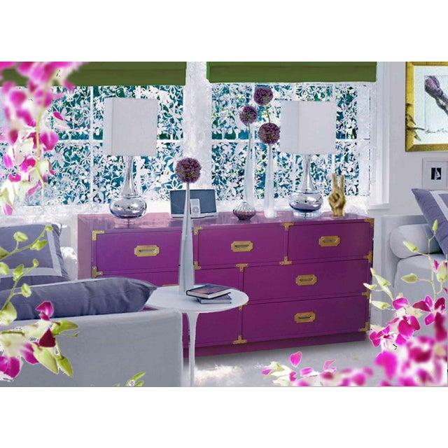 Vintage Campaign Purple Chest - Image 2 of 10