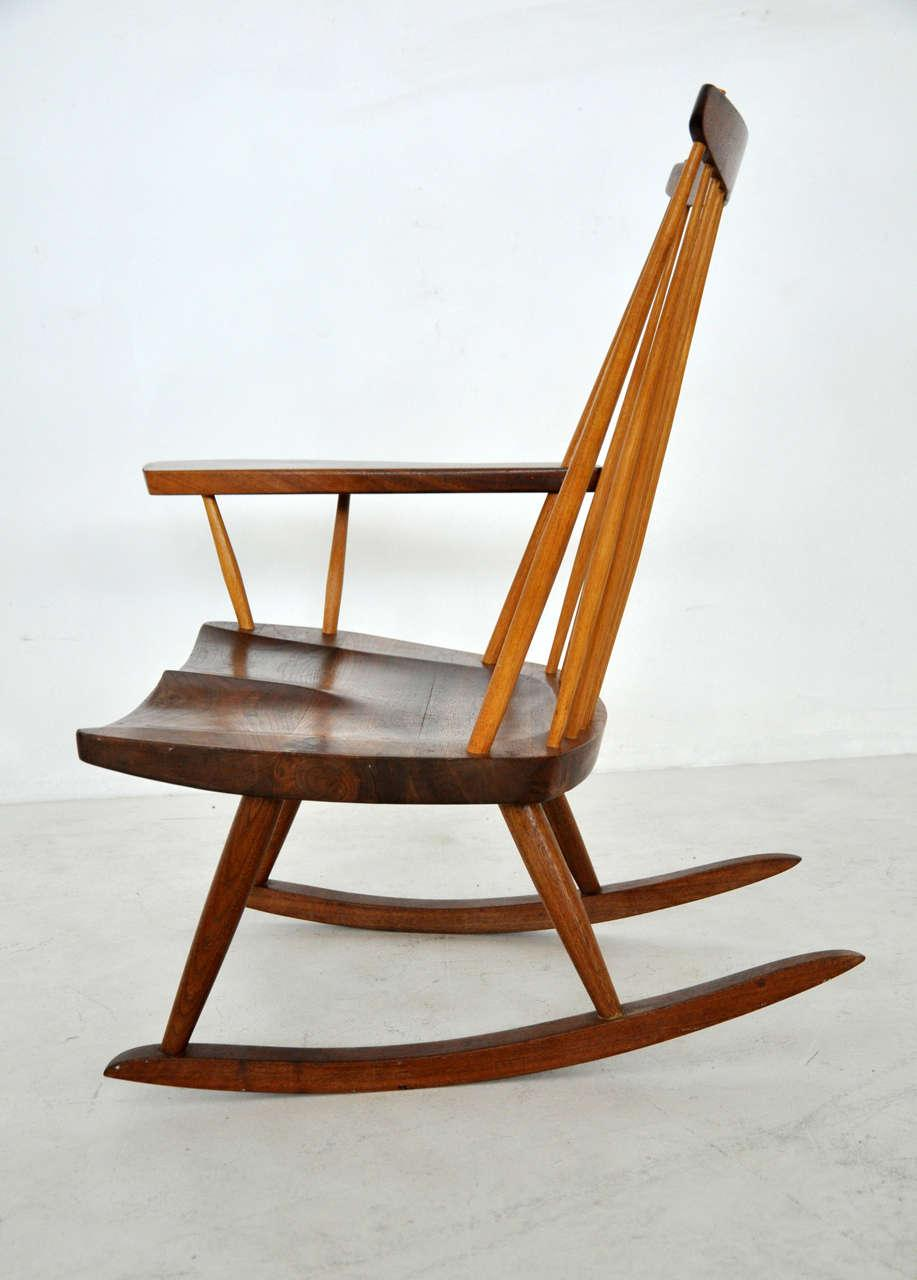 George Nakashima Chairs distinguished george nakashima rocking chair | decaso