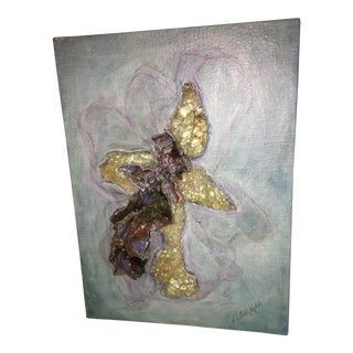 Blue Orchid Art on Canvas