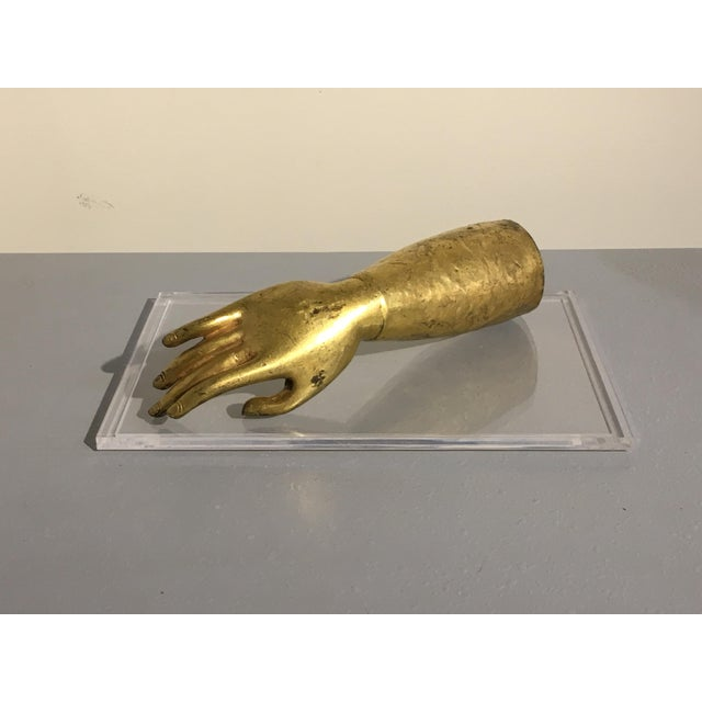 Tibetan Gilt Bronze Arm of the Buddha, early 19th century - Image 2 of 10