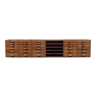 11-Ft Long Vintage Mercantile Cabinet & Sales Counter