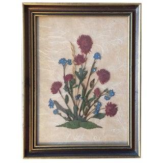 Framed Dried Austrian Flowers