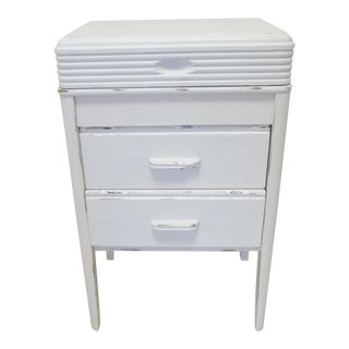 White Sewing Cabinet Side Table
