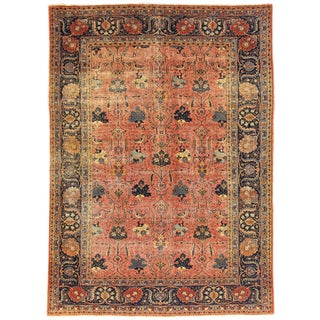 "Apadana Antique Persian Tabriz Rug - 7'3"" x 10'7"""