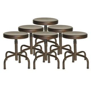 Adjustable Industrial Stools - Set of 6