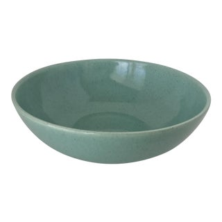 Laurel of California Aqua Ceramic Serving Bowl