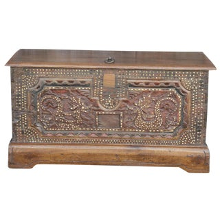Mother Of Pearl Inlaid Trunk