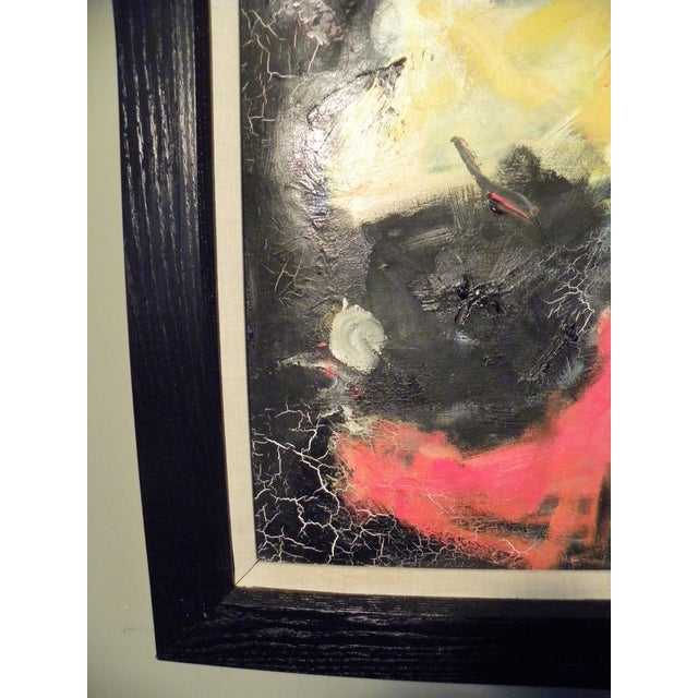Mid-Century Modern Vibrant Abstract Painting - Image 5 of 6