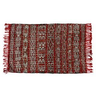 "Vintage Red Moroccan Rug -- 3' x 5'4"""