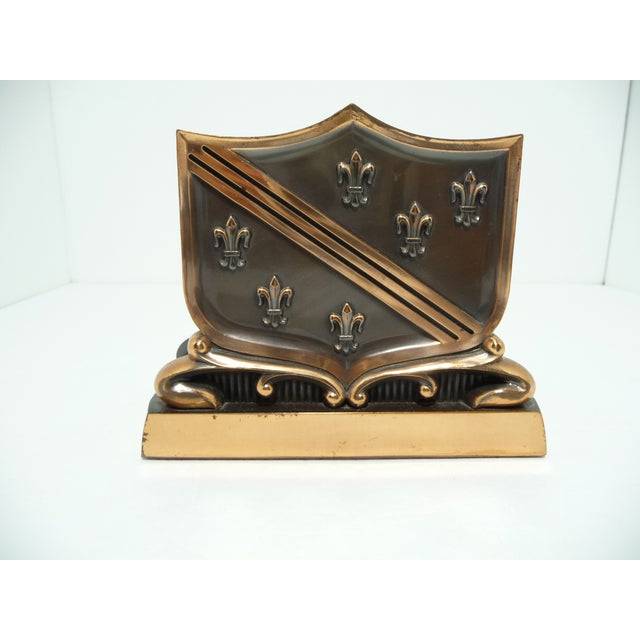 French Fleur De Lis Copper Finish Letter Holder - Image 5 of 7