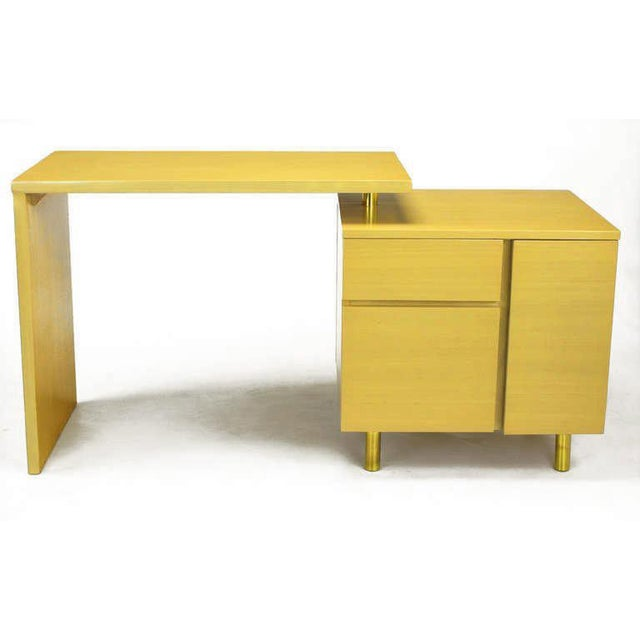 Image of Bleached Mahogany Articulated Desk After Harvey Probber