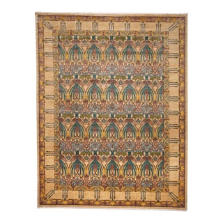 "Arts & Crafts Hand Knotted Area Rug - 9'1"" X 11'7"""