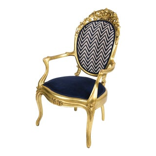 Gilded Louis XV Vintage Chair