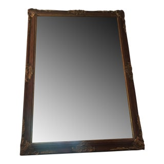 Antique Guilded Wood Mirror