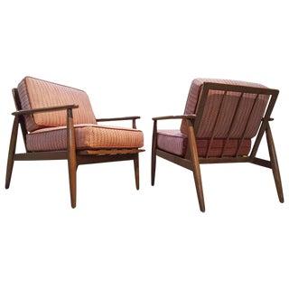 Baumritter Danish Modern Lounge Chairs - A Pair