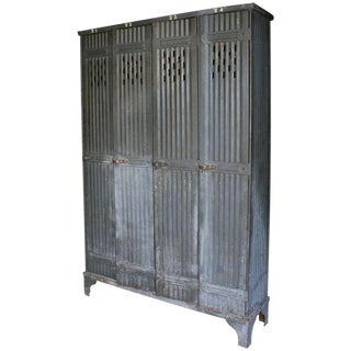 Vintage French Zinc Lockers