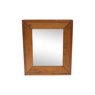 Antique Pine-Framed Wall Mirror