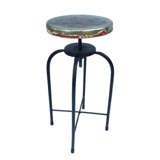 Antique Industrial Adjustable Stool