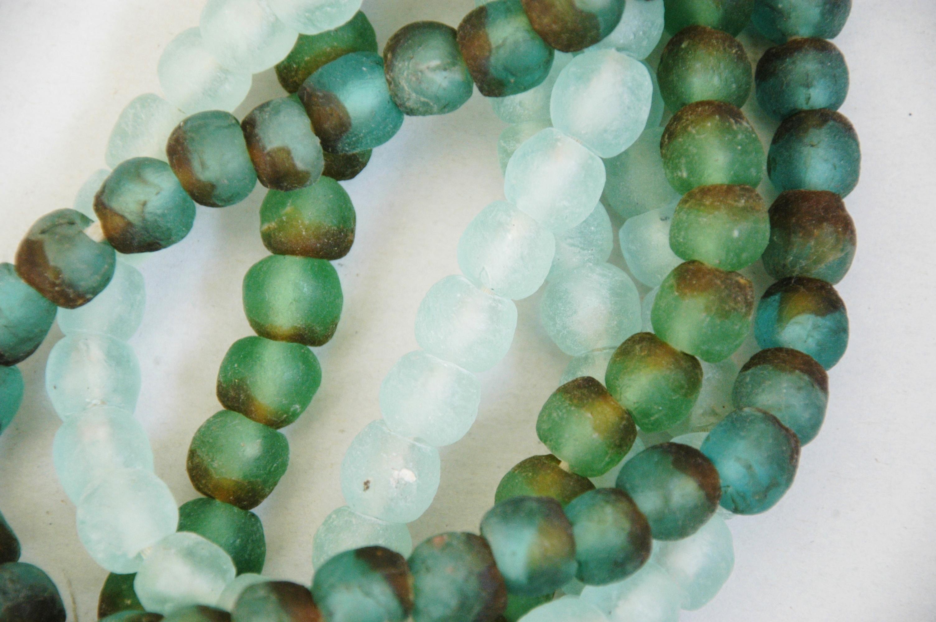green glass bead strands set of 4 chairish