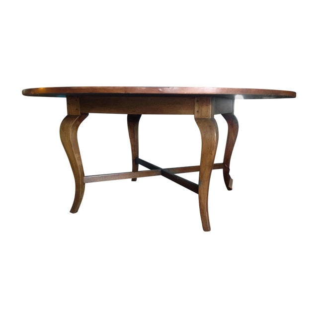 Antique Cherry Round Table - Image 1 of 6