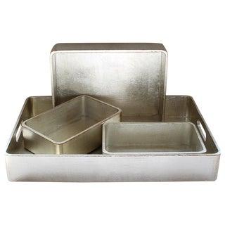 4-Piece Florentine Silver-Gilt Nesting Trays