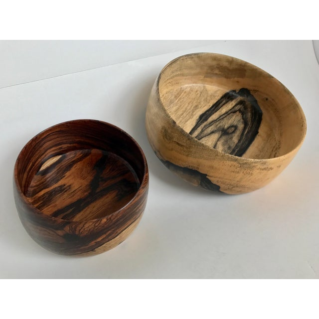 P. S. Miner Sculptural Hand Turned Wooden Bowls- Set of 2 - Image 3 of 9