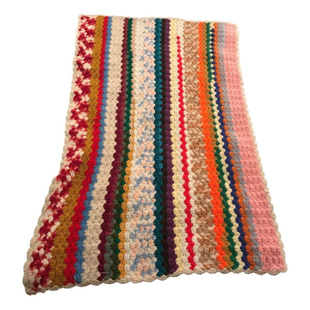 Vintage Rainbow Crochet Blanket - Image 2 of 5