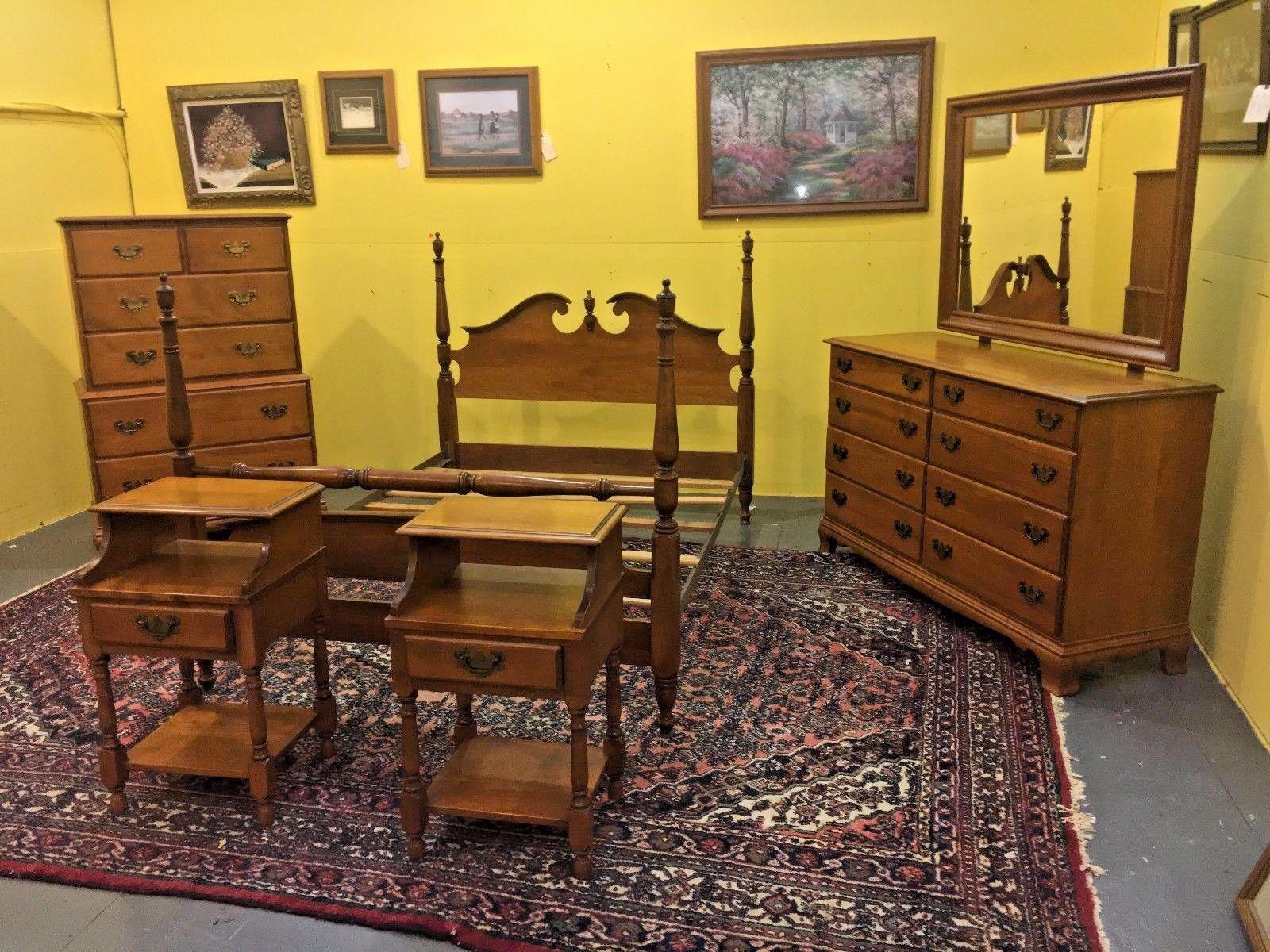 vintage heywood wakefield 5 wintrhop bedroom set