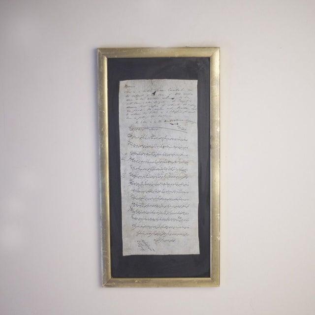 Vintage Framed Script Art - Image 2 of 3