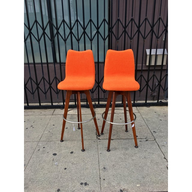 Chet Beardsley Barstools - A Pair - Image 2 of 8