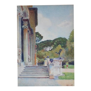 Vintage Lithograph, Villa Medicis in Rome