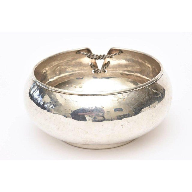 Italian Hand Forged Hallmarked Sterling Silver Corset Bowl - Image 6 of 11