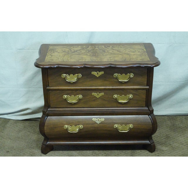 Baker Furniture Burl Wood & Walnut Bombe Chest - Image 2 of 10