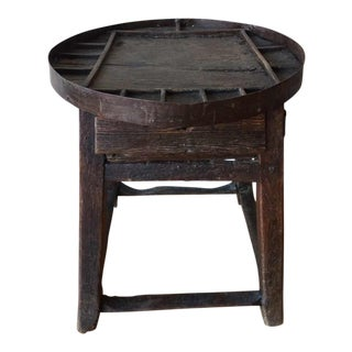 Antique Small Round Shoemaker's Side Table