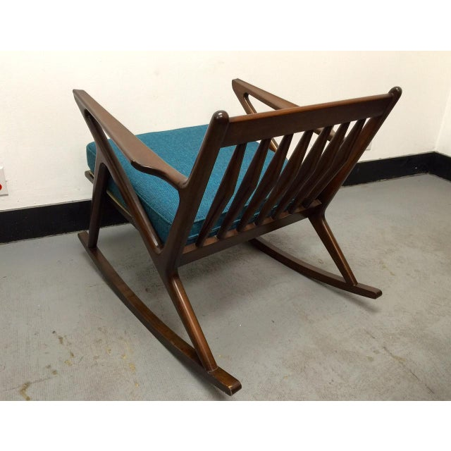 "Mid-Century Custom "" Z "" Rocking Chair - Image 5 of 5"