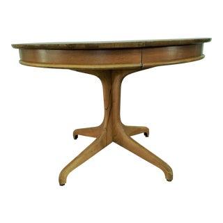 Mid-Century Modern Maloof Style Wood Pedestal Table