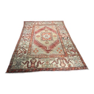 "Vintage Turkish Oushak Rug - 5'7""x8'7"""