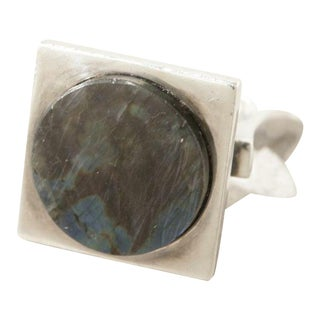 Georg Jensen Sterling Silver Ring With Labradorite by Bent Gabrielsen No. 171 by