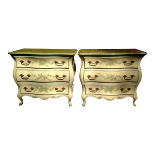 French Provincial Hand Painted Bombay Chests - a Pair