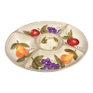 French Tres Joli Divided Oval Platter