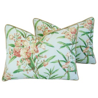 Schumacher Oleander Blossom Pillows - A Pair