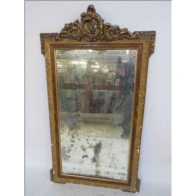 Antique Gilded Mirror - Image 2 of 7