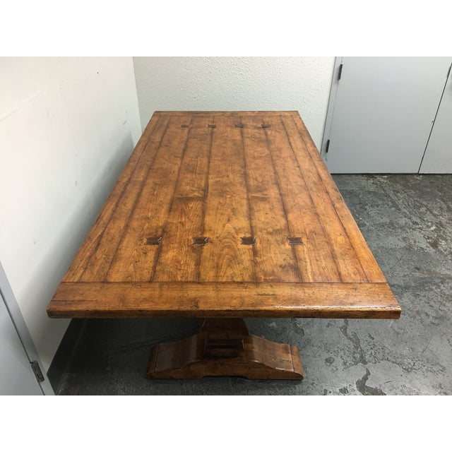 Guy Chaddock Little Hampton Pedestal Trestle Table - Image 3 of 11